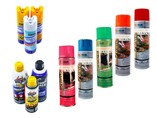 molded aerosol spray can caps closures